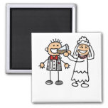 Bride Feeds Groom Fridge Magnets