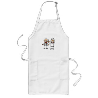 Bride Feeds Groom Long Apron
