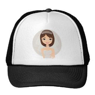 Bride final mesh hat