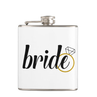 Bride Flask--Bachelorette or Gift for Bride to Be Hip Flask