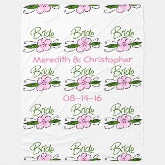 Bride Fleece Blanket