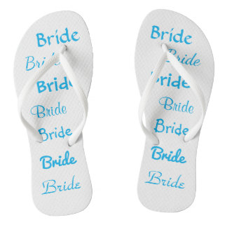 Bride Flip Flops for Beach Wedding