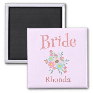 Bride Floral Beautiful Magnet