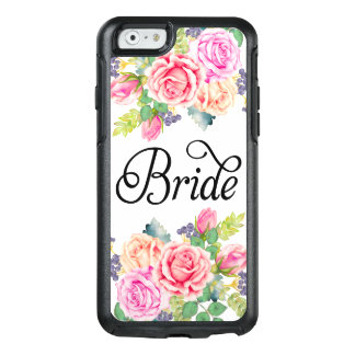 Bride Floral Roses Watercolors Modern Fancy Script OtterBox iPhone 6/6s Case