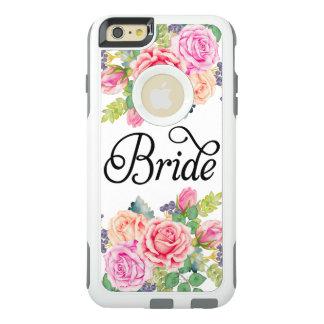 Bride Floral Roses Watercolors Modern Fancy Script OtterBox iPhone 6/6s Plus Case
