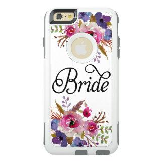 Bride Floral Vintage Watercolors Modern Script OtterBox iPhone 6/6s Plus Case