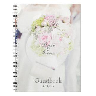 Bride Flower Bouquet editable wedding guest book Notebook