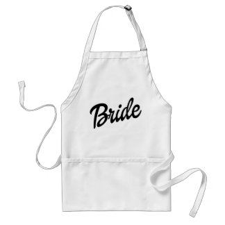 Bride funny standard apron