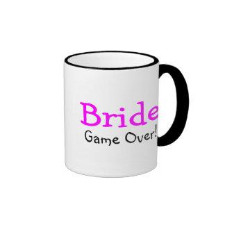 Bride Game Over Ringer Mug