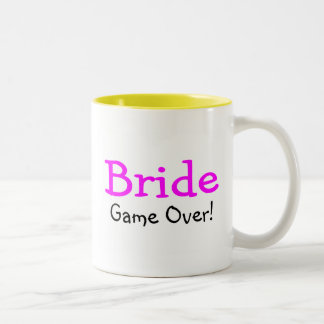 Bride Game Over Two-Tone Mug