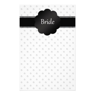 Bride gifts white diamonds customized stationery