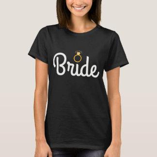 Bride, Gold Bling Tee Shirt
