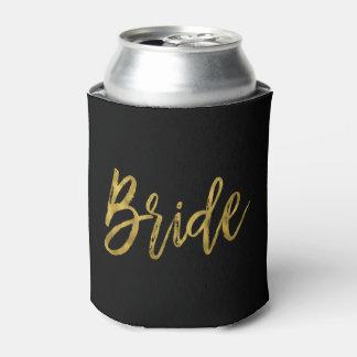 Bride Gold Foil Can Cooler