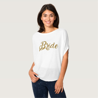 Bride Gold Glitter Flowy Top