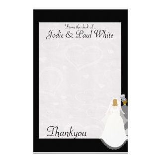 Bride Groom - Black - From the desk of Customized Stationery