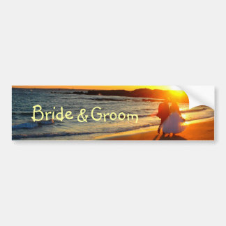 Bride, &, Groom Bumper Stickers
