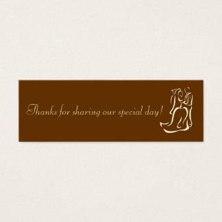 Bride&Groom Chocolate Favor Tag Mini Business Card