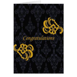 Bride & Groom Congratulations Greeting Card
