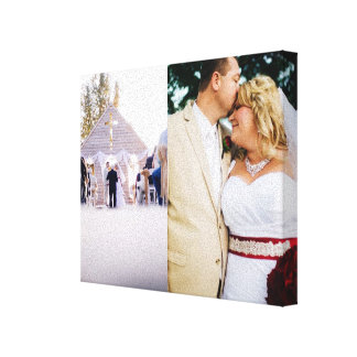 Bride & Groom customised add photo Wrapped Canvas