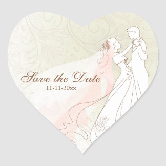 Bride & Groom First Dance Save the Date stickers