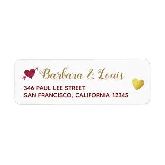 bride groom love home contact address return address label