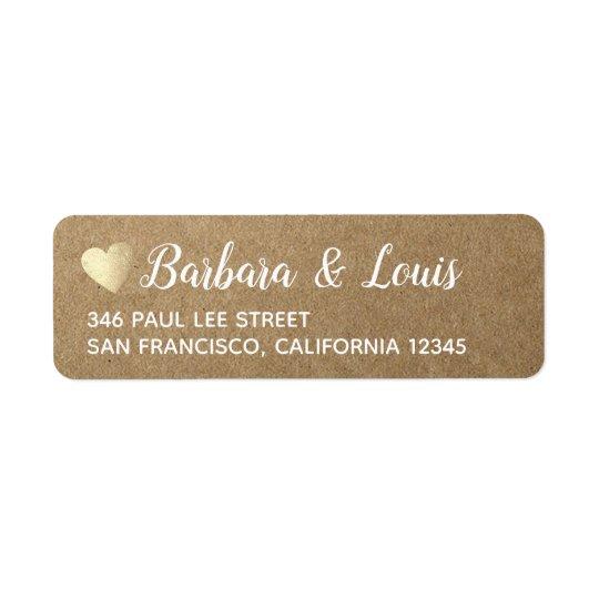 bride groom love modern contact address return address label