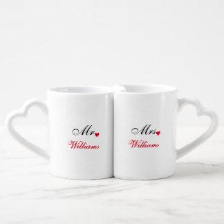 Bride Groom Name Wedding Date Heart Love Initials Lovers Mugs