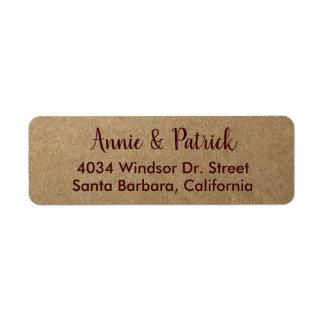 bride groom names return address return address label