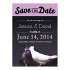 Bride & Groom Pigeons Save the Date Announcement