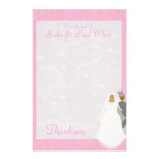 Bride Groom - Pink - From the desk of Stationery