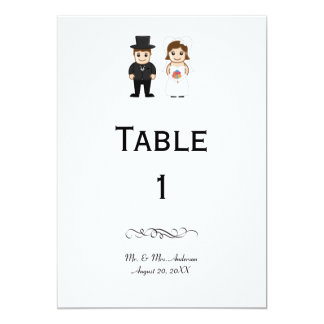 Bride & Groom - Reception Table Number