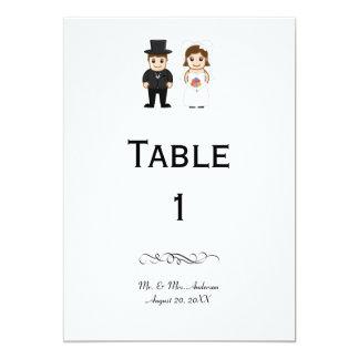 Bride & Groom - Reception Table Number Card
