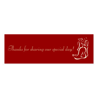 Bride&Groom Red Favor Tag Business Cards