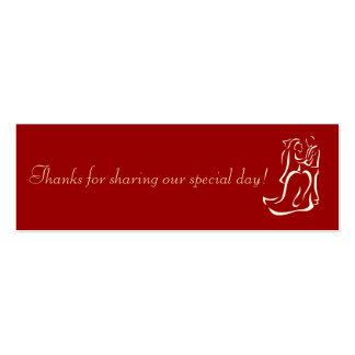 Bride&Groom Red Favor Tag Business Cards