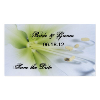 Bride & Groom Save The Date Bookmark Business Card