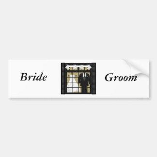 Bride & Groom -Save The Date Bumper Sticker