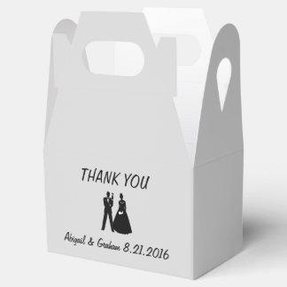 Bride & Groom Silhouette Favor Favour Box