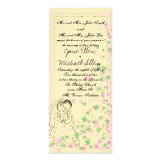Bride & Groom sketch Card