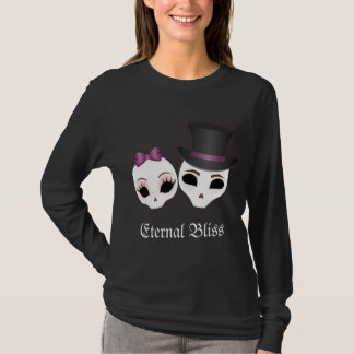Bride & Groom Skullies (Violet) T-Shirt