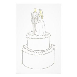 Bride&Groom Wedding Cake Stationery