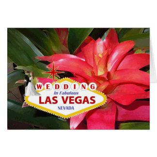Bride & Groom WEDDING In Fabulous Las Vegas Floral Greeting Card