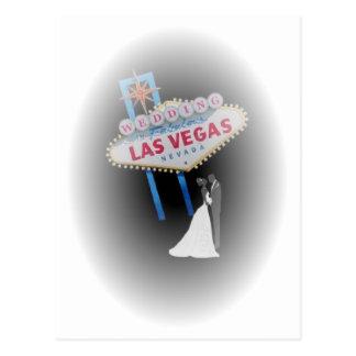 Bride & Groom WEDDING in Las Vegas Postcard