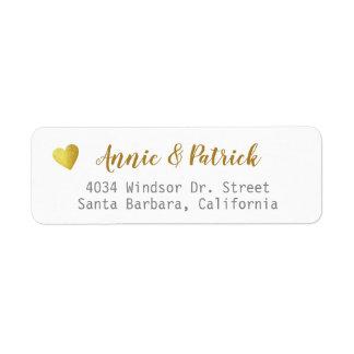 bride groom wedding mailing return address return address label
