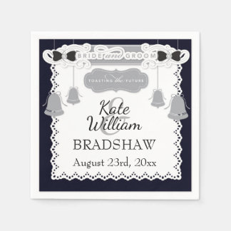 Bride/Groom Wedding Reception Customizable PAPER Disposable Serviettes