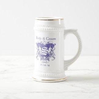 Bride & Groom Wedding Stein Vintage Lions Beer Steins
