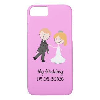 bride groom wedding team iPhone 8/7 case