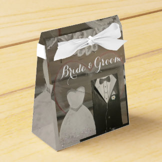 Bride & Groom Wedding Tent Favour Box Party Favour Boxes