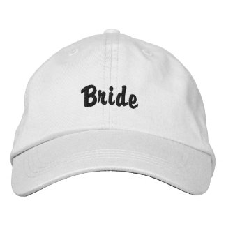 """Bride"" Hat Embroidered Hats"
