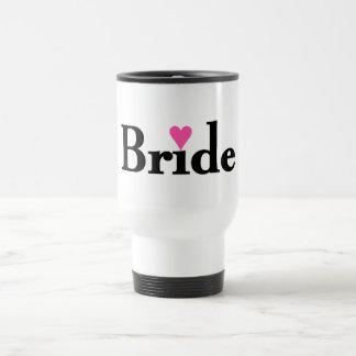 Bride Heart Stainless Steel Travel Mug