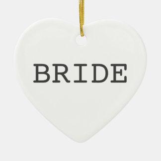 Bride Heart Shaped Ornament